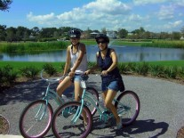 Enjoying the bike tour!