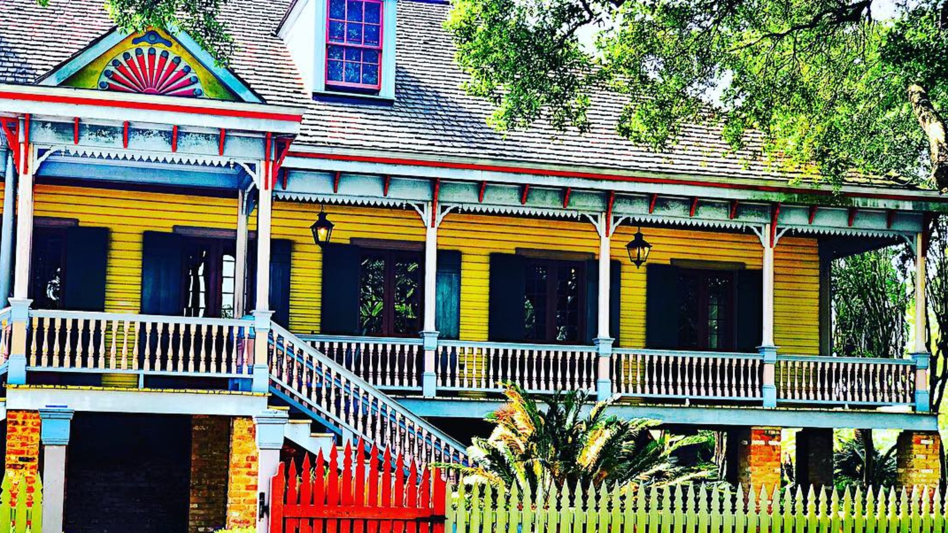 Laura Plantation: A Creole Heritage Site, located in Vacherie, Louisiana.