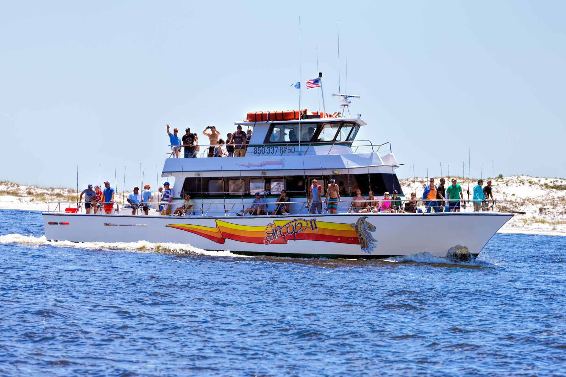 Deep sea fishing party boat in destin tripshock for Deep sea fishing panama city beach prices