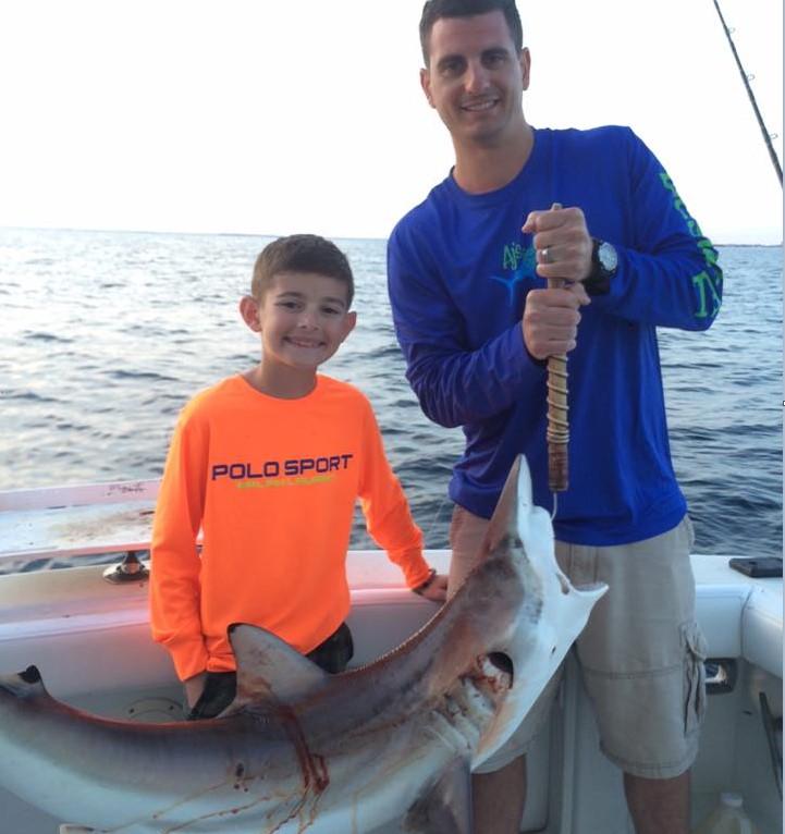 Kaylee Tiger Shark Fishing On The Reel Deal In Destin Fl 8 15 14