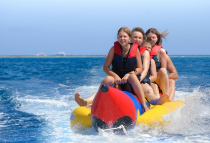 Gulf Ss Banana Boat Rides With Blue Sky Watersports
