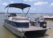20 ft. Pontoon Boat Rental from Crazy Sister Marina - Murrells Inlet