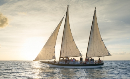 Schooner Champagne Sunset Sail by Sebago Watersports