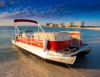 24 ft (12 passenger) Pontoon Boat Rental with Luther's Watersports